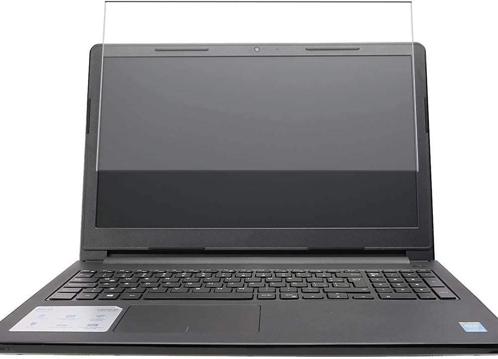 Puccy Tempered Glass Screen Protector Film, compatible with Dell Inspiron 15 3000 I3558-0954BLK Laptop 15.6