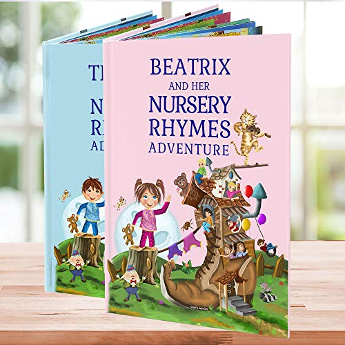 Personalized Nursery Rhymes and Poems Childrens Book - A Beautiful 1st Birthday, Christening Gift