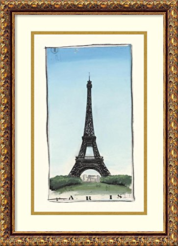 Framed Art Print 'World Landmark Paris' by Paul Gibson (Gibson Antique Classic Les Paul)