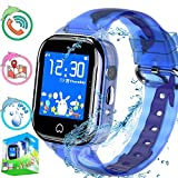 Kid Waterproof Smart Watch Phone with GPS Tracker for Boy Girl, Children Smart Watch with Pedometer Camera SOS Calling Touch Screen, Electronic Learning Toys and Gifts
