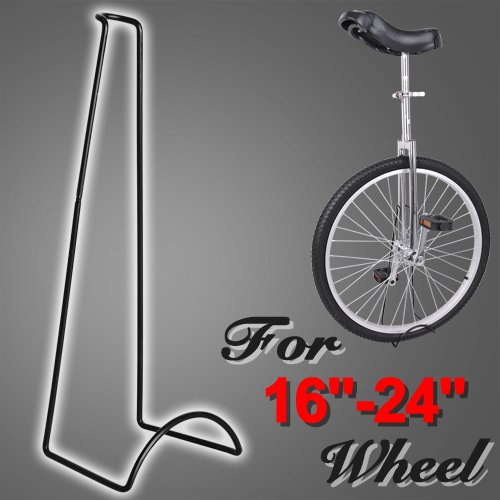 """16""""- 24"""" Heavy Duty Black Display Stand Rack for Unicycle"""