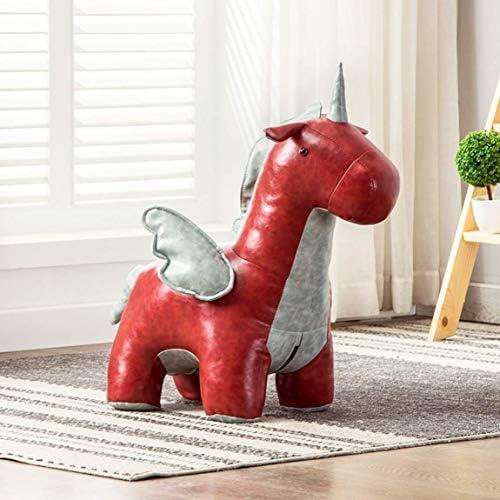 機能的なスツールホーム動物クッションルーム装飾ポニースツールシートスツールチェアユニコーンかわいいおもちゃ80x40x75cm小さなスツール