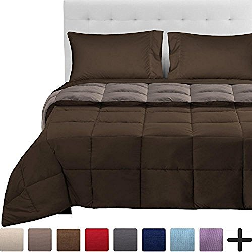 5-Piece Reversible Bed-In-A-Bag - Queen (Comforter: Cocoa / Taupe, Sheet Set: Cocoa)