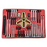 46pc Harmonic Puller Set Crankshaft Balance Puller Gear Flywheels Steering TE822