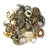 Buttons Galore Botones de abundancia Haberdashery botón, Oro/Plata, Paquete de 100