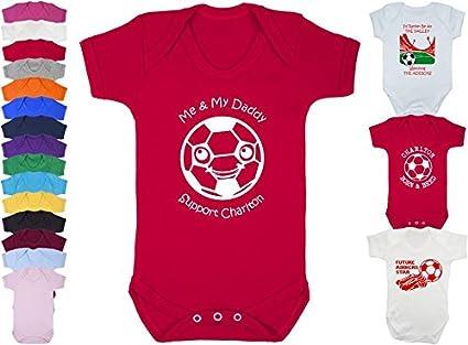 Hat-Trick Designs Charlton Athletic Football Baby Babygrow//Vest//Bodysuit//Romper-White-Id Rather Be-Unisex Gift