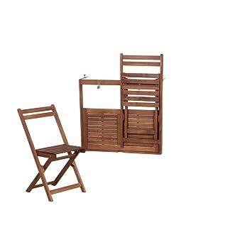 Siena Garden Amanda - Juego de muebles de jardín, 3 piezas, madera ...
