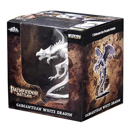WizKids Pathfinder Deep Cuts Unpainted Miniatures: Gargantuan White Dragon by WizKids (Image #1)