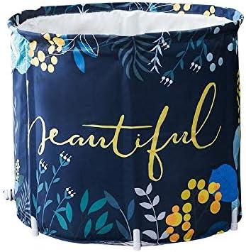 浴槽 バースバレル折りたたみ風呂バレルボディバス絶縁肥厚大人バースバレル子供バースバレル浴槽ブルー 大人用家庭用 (Color : Blue, Size : 65x70cm)