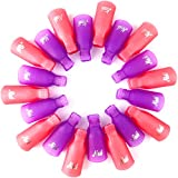 Nail Remover Clips, ESARORA Acrylic Nail Art Soak Off Clips Caps UV Gel Nail Polish Remover Wrap Tool 20 Piece