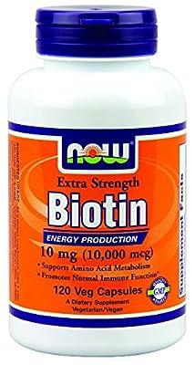 Now Foods Biotin Extra Strength Veg Capsules