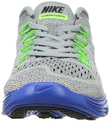 Nike Lunartrainer, Chaussures de  Running  Compétition homme, Grau (Wolf Grey/Black-Game Royal-Flash Lime), 44