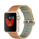 APPLE(アップル) Apple Watch Sport 38mmゴールドアルミニウムケースとゴールド/レッドウーブンナイロン