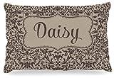 Kess InHouse KESS Original ''Daisy'' Damask Name Fleece Dog Bed, 30 by 40-Inch, Brown/Tan