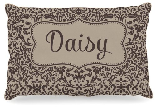 Kess InHouse KESS Original ''Daisy'' Damask Name Fleece Dog Bed, 30 by 40-Inch, Brown/Tan by Kess InHouse