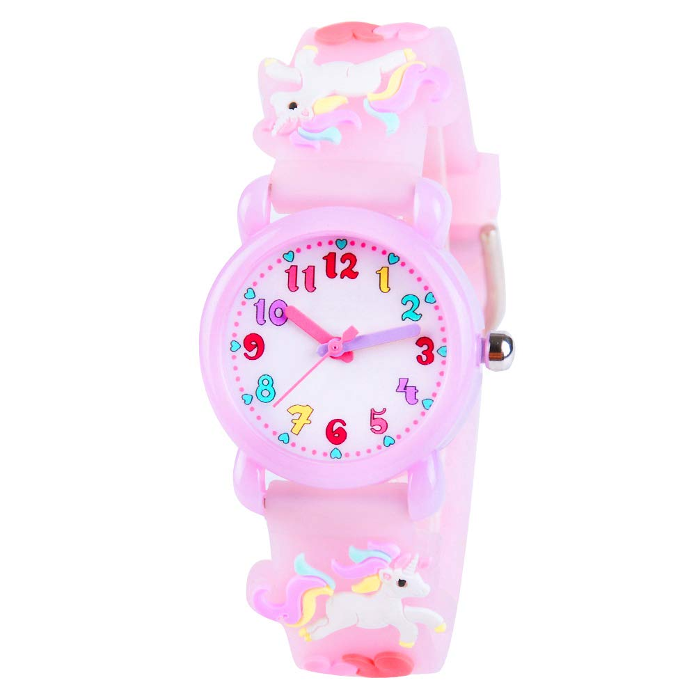 VIVIKEN Kids Watch 3D Cartoon Waterproof Children Toddler Wrist Watch Time Teacher Birthday Unicorn Gift for 3 4 5 6 7 8 Year Girls Little Child-Purple Flying Horse by VIVIKEN