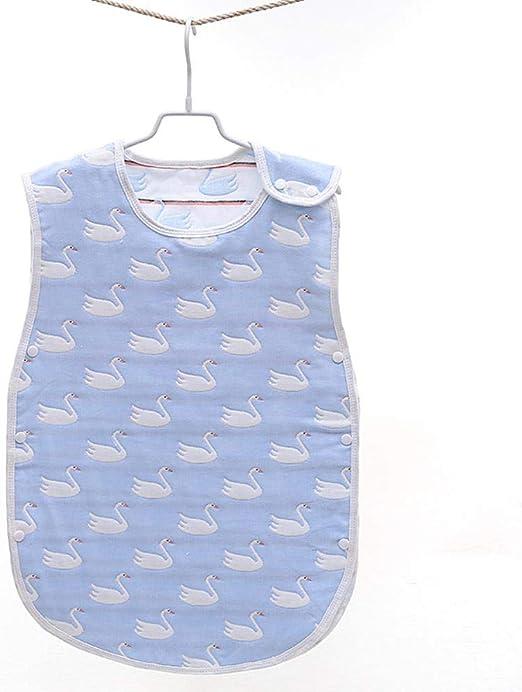 CYDKZMEPA Saco de Dormir para bebé, Saco de algodón de Gasa, Saco de Dormir Suave sin Mangas, Bata Anti-Patada recién Nacida , 70 cm, Azul Cisne: Amazon.es: Hogar
