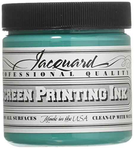 Jacquard Jac-JSI1113 Screen Printing Ink, 4 oz, Turquoise - Paper Block Printing Ink