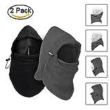 Balaclava Mask, TopTops 2 Pack Windproof Fleece Hood Ski Snowboard Hat Helmet Face Neck Warmer Wind Protector Clavas