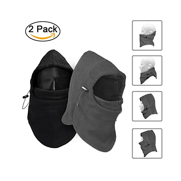 960708595f8 ZZLAY Childrens Balaclavas Hat Thick Thermal Windproof Ski Cycling Face  Mask Caps Hood Cover Adjustable cap