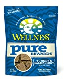 Wellness Grain-Free Treats for Dogs, Pure Rewards Turkey and Salmon, 6-Ounce Pouch, My Pet Supplies