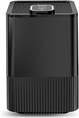 Purificador de Aire con Filtro HEPA Real y ionizador,Limpiador de Aire Compacto con filtración de 4 Capas y función de Temporizador, Elimina Polvo,Humo,caspa de Mascotas, alérgico alérgico: Amazon.es: Hogar