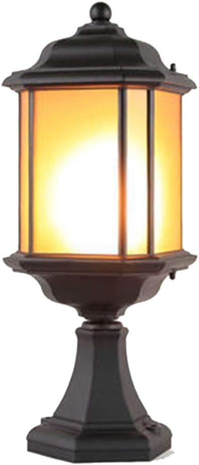 LJIANW-Farolas Jardin Exterior LED Al Aire Libre Impermeable Luz Decorativa Portalámparas E27 Antracita Fácil De Montar por Jardín Patio Patio De Inicio Navidad (Color : Black, Size : 21x56cm): Amazon.es: Hogar