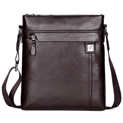 (jn 1014-k) Shoulder Bag Pu Leather Men's Lightweight Carry Bag Three-way Lightweight Travel Bag 3-way Bronze