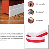 """Under Door Draft Stopper and Blocker for Soundproof and Prevent Bugs,2"""" W x 39"""" L( White )"""