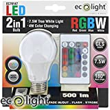 Ecolight Remote Control Colour Change LED Bulb (E27)