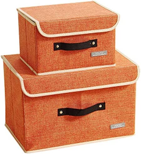 Zyhoue Organizadores de Cajones-Caja de Ropa Interior Caja de Ropa Interior, Artefacto de Dormitorio, Caja de Tela con Ropa Y Ropa Interior,Naranja Grande: Amazon.es: Hogar