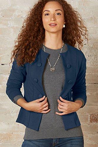 Fair Indigo Fair Trade Organic Button Jacket