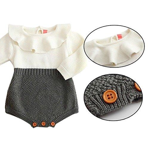 7-9 Months Zooarts Body f/ür Neugeborene 70 Baby multi Babykleidung M/ädchen einteilig gestrickt mit langen /Ärmeln Strampler Kleinkinder