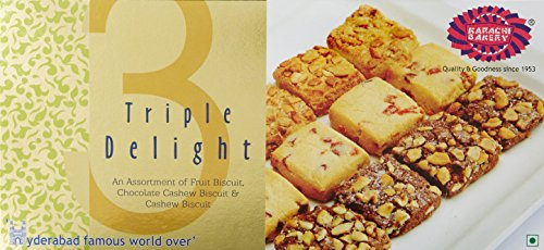 Karachi Bakery Triple Delight Fruit Biscuit with Chocolate and Cashew, 600g
