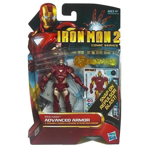 Comic Series Figure - Iron Man 2 Comic Series 4 Inch Action Figure #32 Advanced Armor Iron Man Reborn