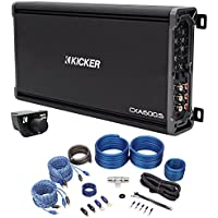 Package: Kicker 43CXA6005 600 Watt RMS 5-Channel Amplifier + Kicker 43CXARC Remote Control For CX or PX SERIES Car Amplifiers + Rockville RWK42 4 Gauge 4 Channel Complete Wire Kit With RCA Cables