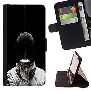 Super Marley Shop - Funda de piel cubierta de la carpeta Foilo con cierre magn¨¦tico FOR Sony Xperia M2 s50h Aqua- Fencing