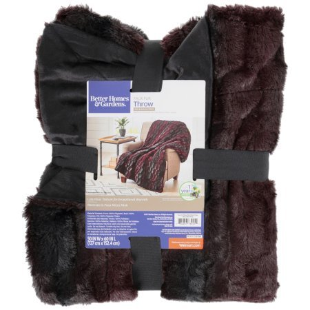 Better Homes And Gardens Faux Fur Throw Blanket Merlot Bamboo Adorable Better Homes And Gardens Throw Blanket