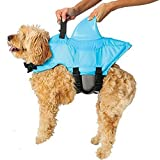 Swimways Sea Squirts Doggie Jacket with Fin, Color: Blue, Size: Small