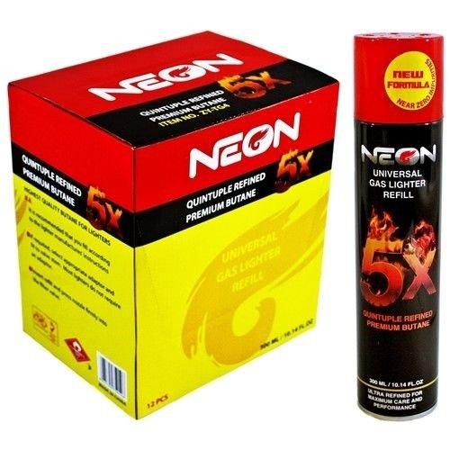 Neon 5x Ultra Refined Butane Fuel Lighter Refill Gas  (72pack)