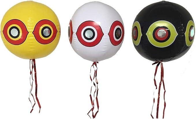 Juego de 3 globos perfectos para ahuyentar pájaros de viñedos, jardines y árboles frutales: Amazon.es: Bricolaje y herramientas