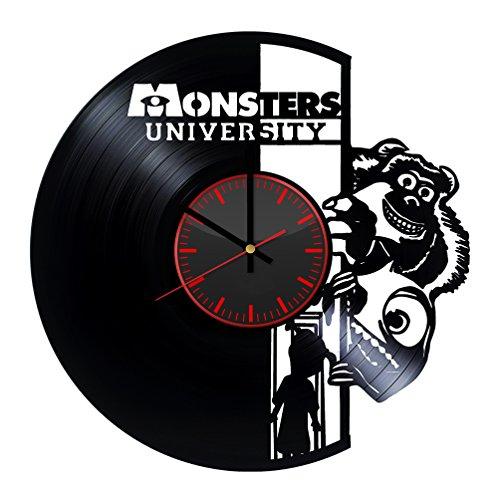 Monsters University Vinyl Record Wall Clock - Unique Bedroom and Living Room Decor Great Gift Idea