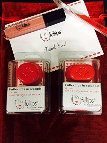 Fullips Lip Plumping Enhancer Combo (All 3 Sizes, Gloss & Free Gift!!!) by Fullips (Image #2)