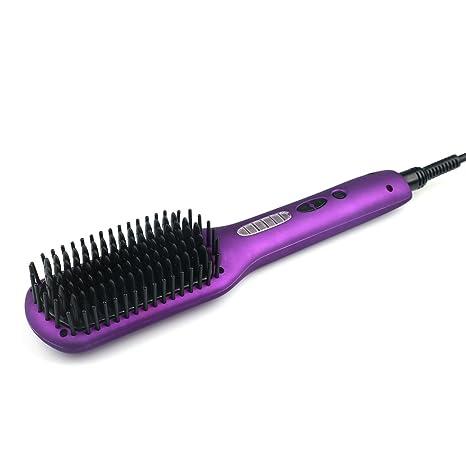 Alisadores de pelo cepillo profesional eléctrico alisador de cabello alisado Viajes cuidado del cabello peine doble