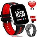 "[Gorilla Glass] 1.3"" Smart Watch Fitness Tracker HR for Men Women Valentine's Gift,IP68 Waterproof Watch Heart Rate/Blood Pressure Monitor,Calorie Counter,Message Reminder Smart Band"