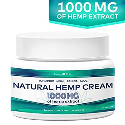 Organic Hemp Pain Reliever, 1 000 Mg, Non-GMO, Natural Hemp Extract for Joint, Muscle, Back, Neck, Knee Pain, Made in USA by Hemp Coin