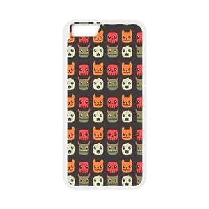 6 4.7 pulgadas del teléfono celular de la historieta animal iPhone Patrón funda blanca del teléfono celular Funda Cubierta EEECBCAAH70734