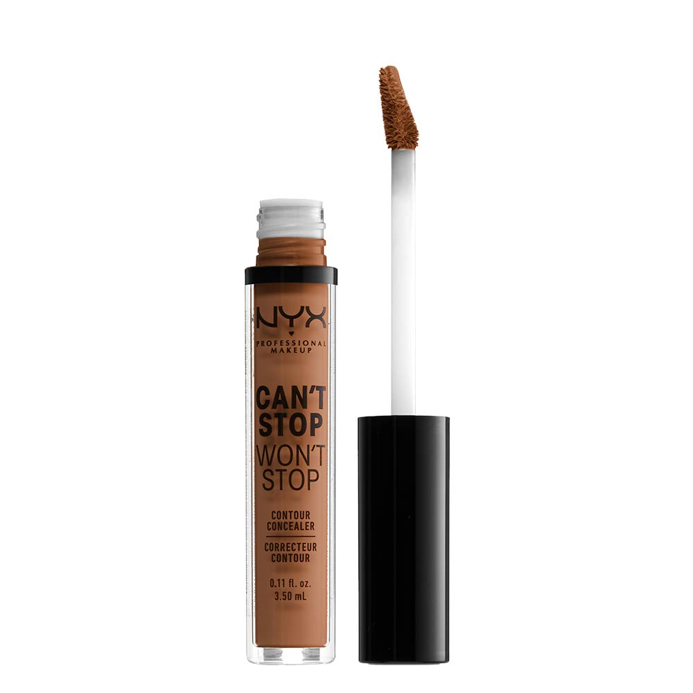 NYX PROFESSIONAL MAKEUP Can't Stop Won't Stop Concealer, Warm Caramel