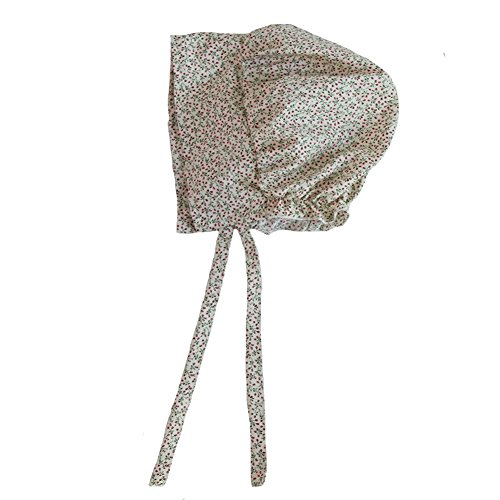 Making Believe Simple Bonnet, Teens To Women's (Cream Calico)