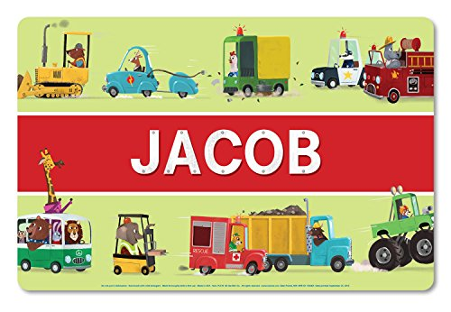 Personalized Placemat Craft Mat Trucks